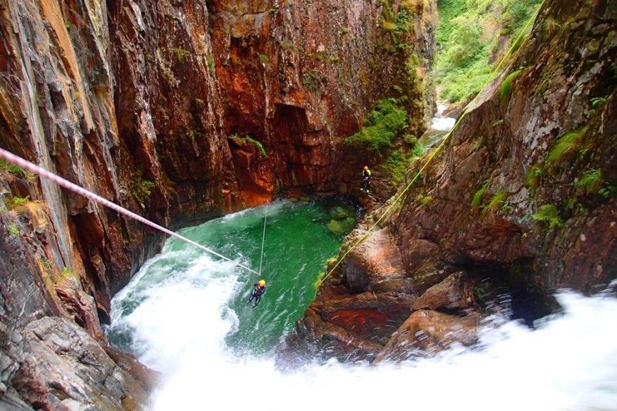 Les Gorges del Canó de l'Artiga amb els Guies de La Cerdanya Bavaresa a Puigcerdà, Pirineus Orientals 66
